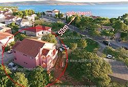 Kwatery prywatne Starigrad APARTMANI-BAKALO